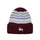 Striped Cuff Beanie - Burgundy