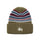Striped Cuff Beanie - Olive