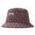 Brent Check Wool Bucket Hat - Red