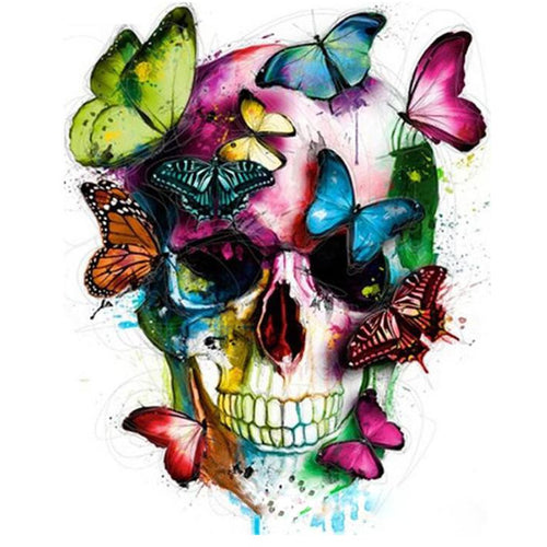 Butterfly Skull - DIY Painting By Numbers Kit