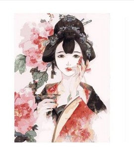 A Beautiful Geisha - DIY Painting By Numbers Kit