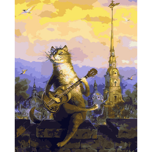 Cat Music - DIY Painting By Numbers Kits