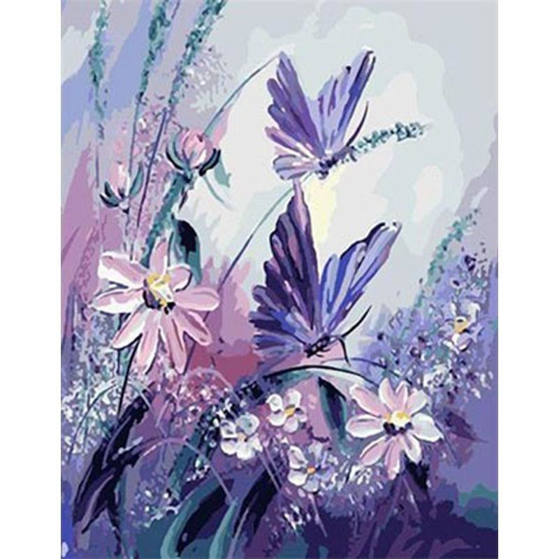 Lavender Flowers - DIY Painting By Numbers Kits