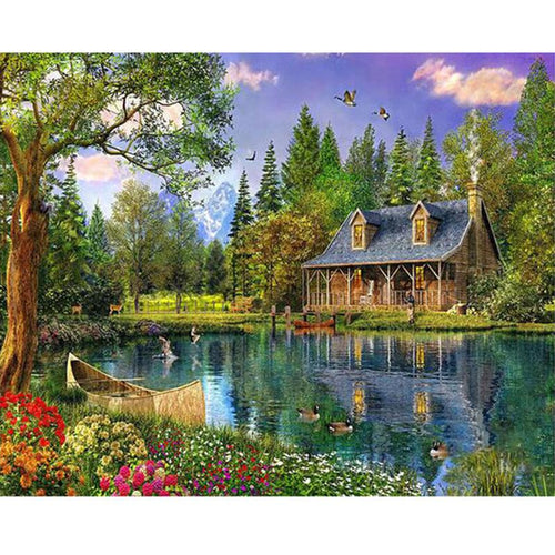 Elaborate Natural House - DIY Painting By Numbers Kit