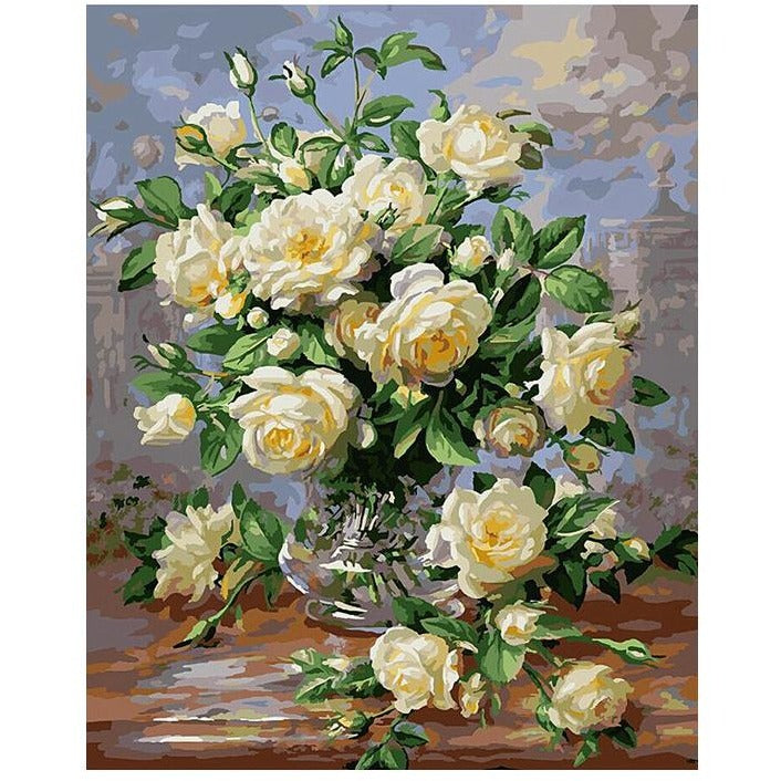 Flowers in a Vase - DIY Painting By Numbers Kits