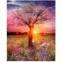 Sunset Woman Tree - DIY Painting By Numbers Kits