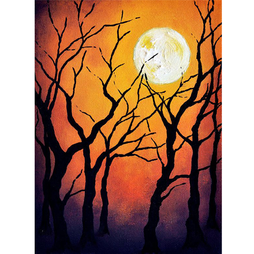 Halloween Moon - Halloween 5D DIY Paint By Number Kit