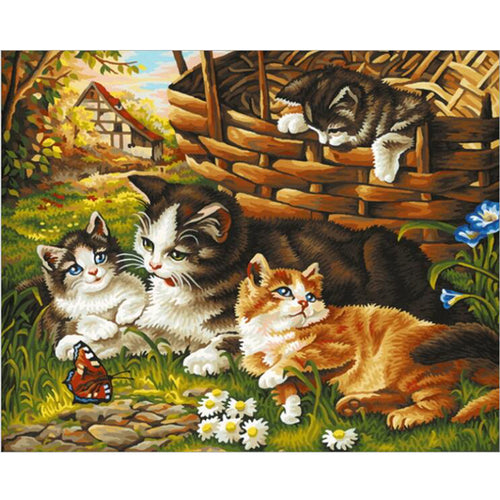 Cats Family - DIY Painting By Numbers Kit