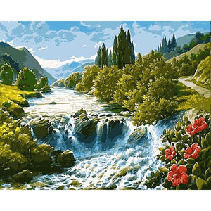 River Flowing - DIY Painting By Numbers Kits