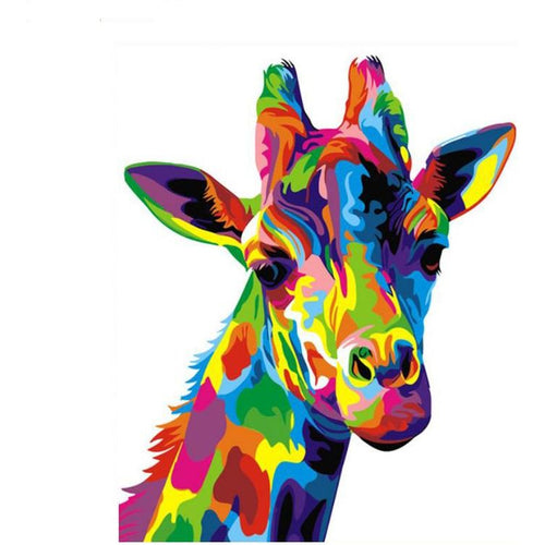 Colorful Boho Giraffe - DIY Painting By Numbers Kits