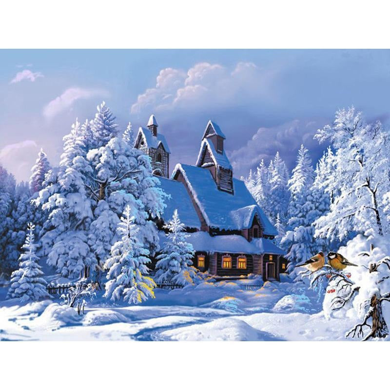 Snowy Day - DIY Painting By Numbers Kits