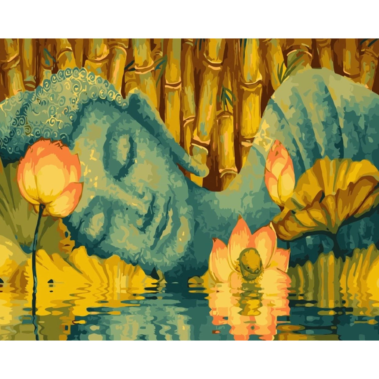 Sleeping Buddha - DIY Painting By Numbers Kit