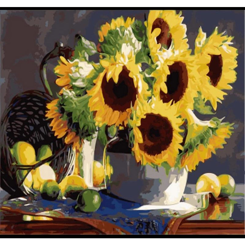 Wilting Sunflower - DIY Painting By Numbers Kit