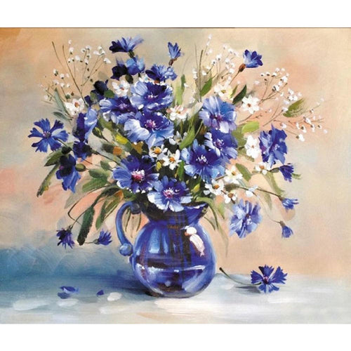 Periwinkle Blossoms - DIY Painting By Numbers Kit