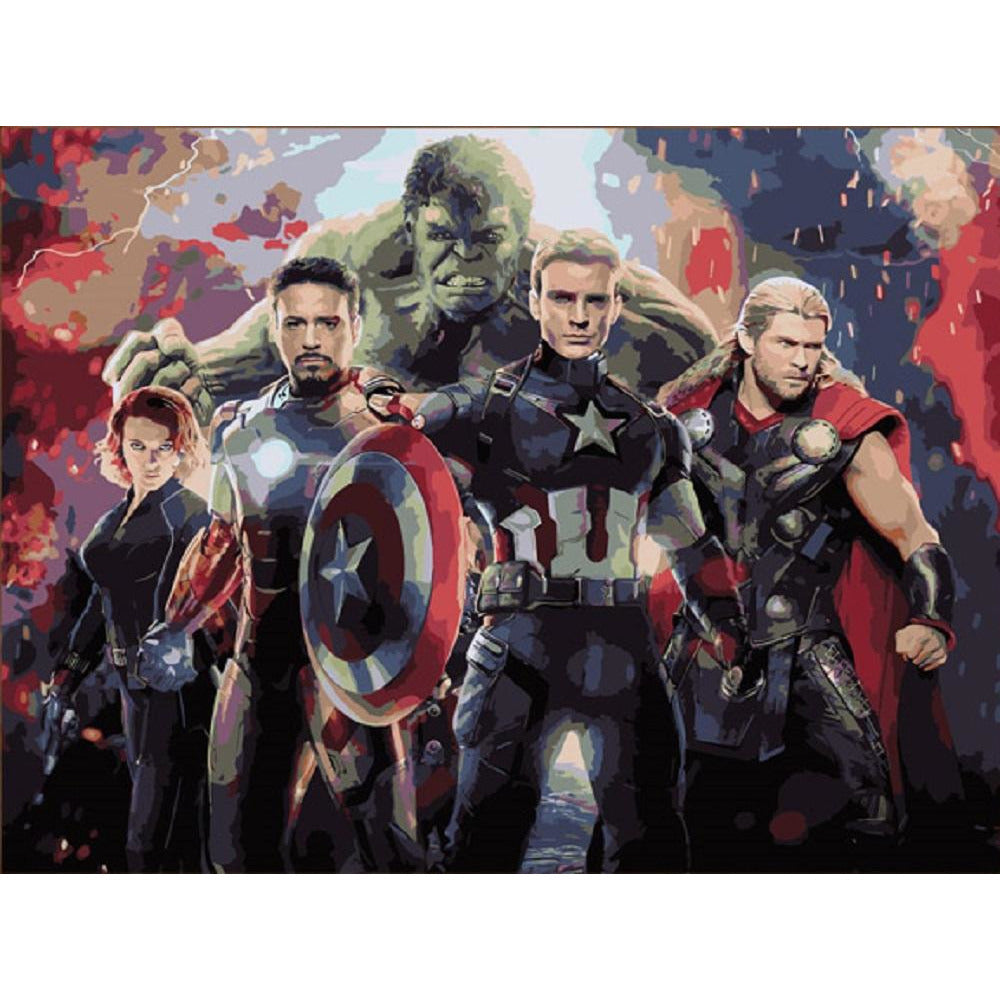Avengers - DIY Painting By Numbers Kit