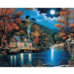 Beautiful Moon Night Sky - DIY Painting By Numbers Kits