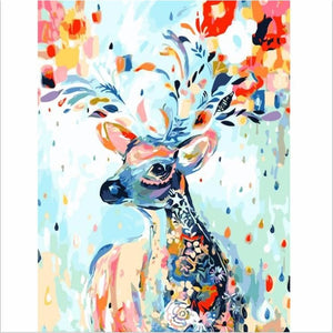 Colorful Deer - DIY Painting By Numbers Kits