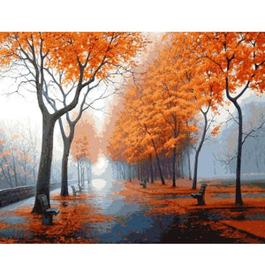 Autumn Roads - DIY Painting By Numbers Kits