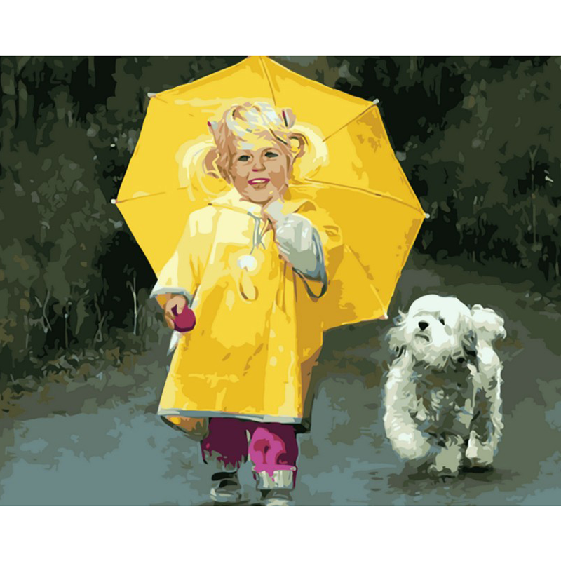 Yellow Rain Coat Toddler - DIY Painting By Numbers Kits