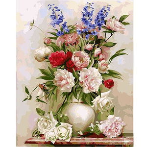 Colorful Flowers - DIY Painting By Numbers Kits