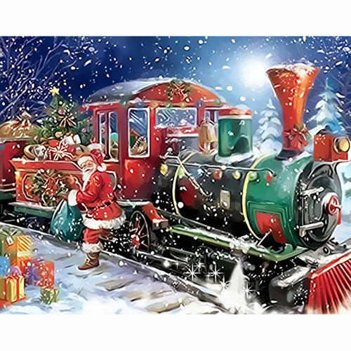 Christmas Train - DIY Painting By Numbers Kit