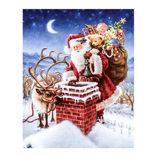 Santa Sending Gifts - DIY Painting By Numbers Kit