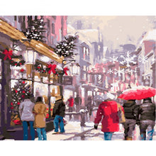 Christmas Shopping - DIY Painting By Numbers Kit