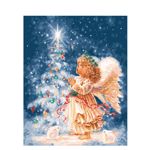 Cute Angel - DIY Painting By Numbers Kit