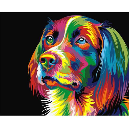Colorful Dog - DIY Painting By Numbers Kits