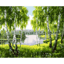 Lake in a Forest - DIY Painting By Numbers Kits