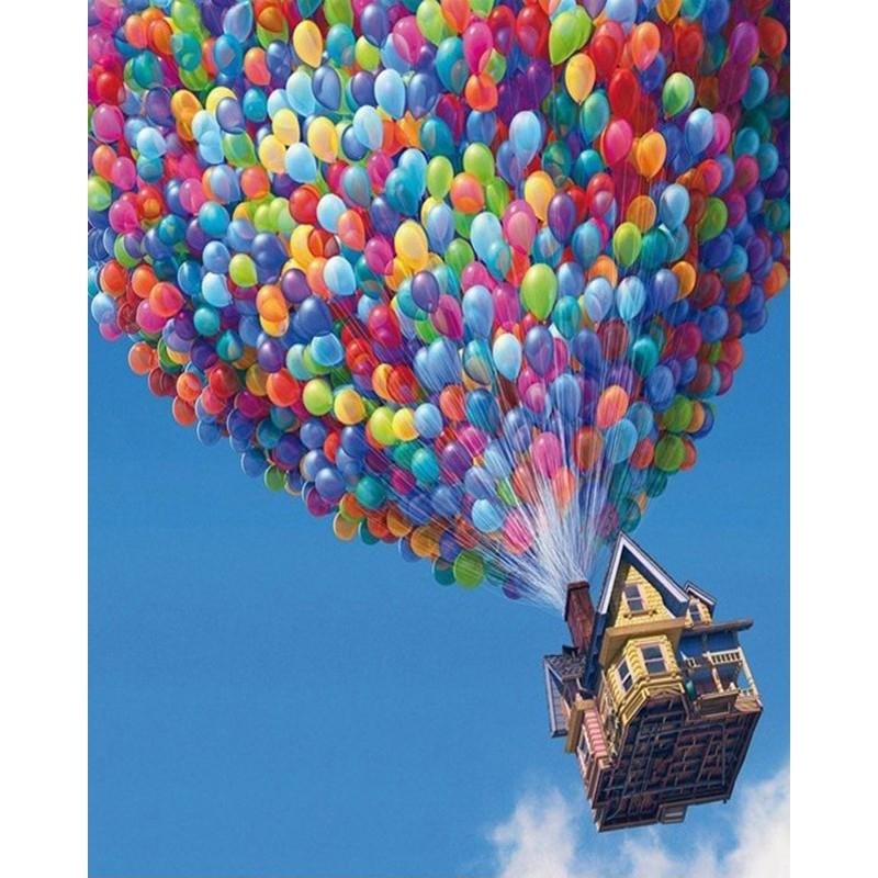 Colorful Hot Air Balloon - DIY Painting By Numbers Kits