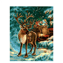 Christmas Deer - DIY Painting By Numbers Kit