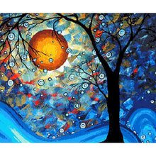 Starry Night Sky and Tree - DIY Painting By Numbers Kits