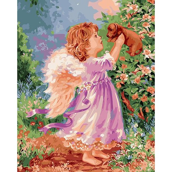 Angel Playing - DIY Painting By Numbers Kits
