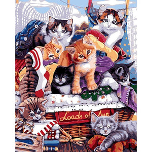 Kittens Love - DIY Painting By Numbers Kits