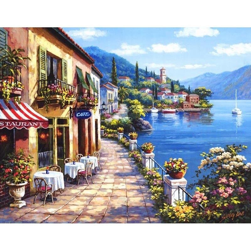 Calm Town - DIY Painting By Numbers Kits