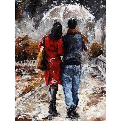 Love in the Rain - DIY Painting By Numbers Kits