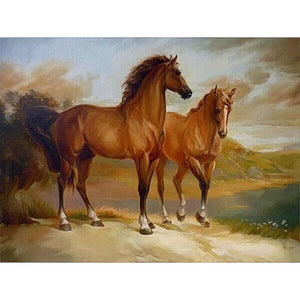Horse Couple - DIY Painting By Numbers Kits