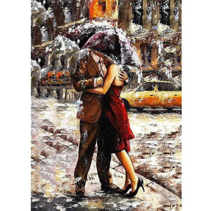 Caught in the Rain - DIY Painting By Numbers Kits