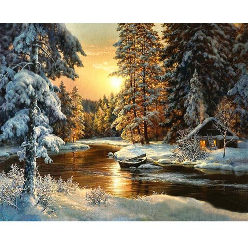 Banff's Winter - DIY Painting By Numbers Kits