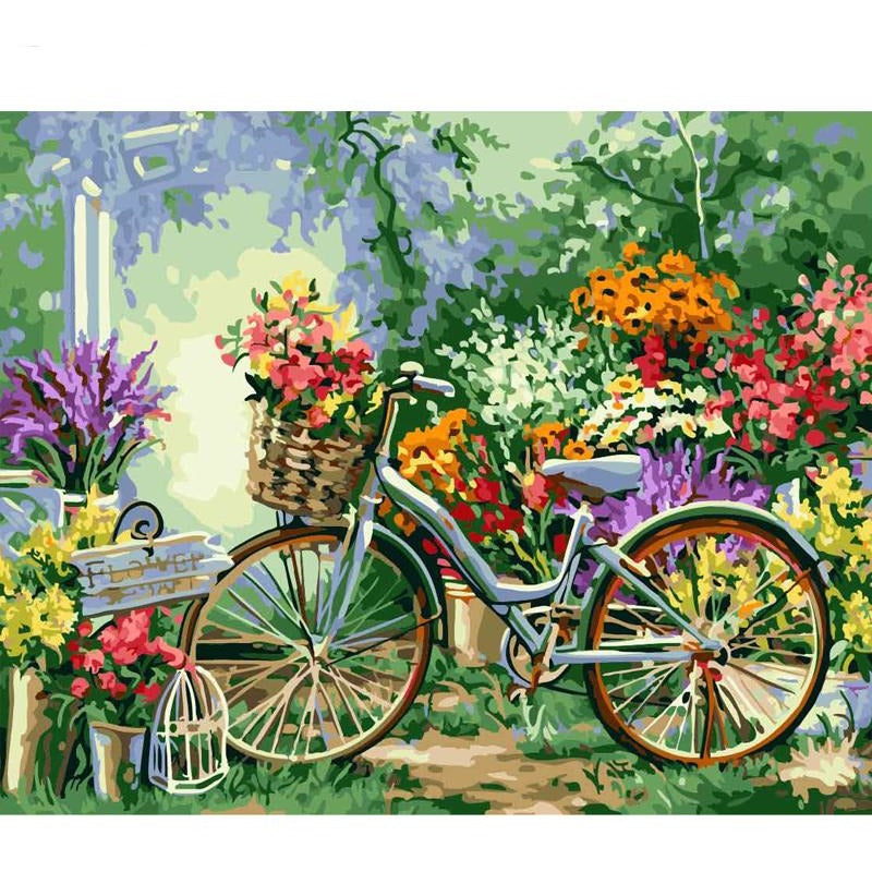 Bicycle Garden - DIY Painting By Numbers Kits