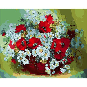 Flower Vase 2 - DIY Painting By Numbers Kits