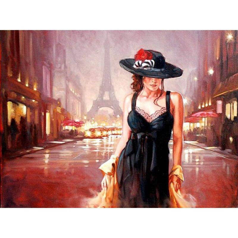 Lady in Black - DIY Painting By Numbers Kits