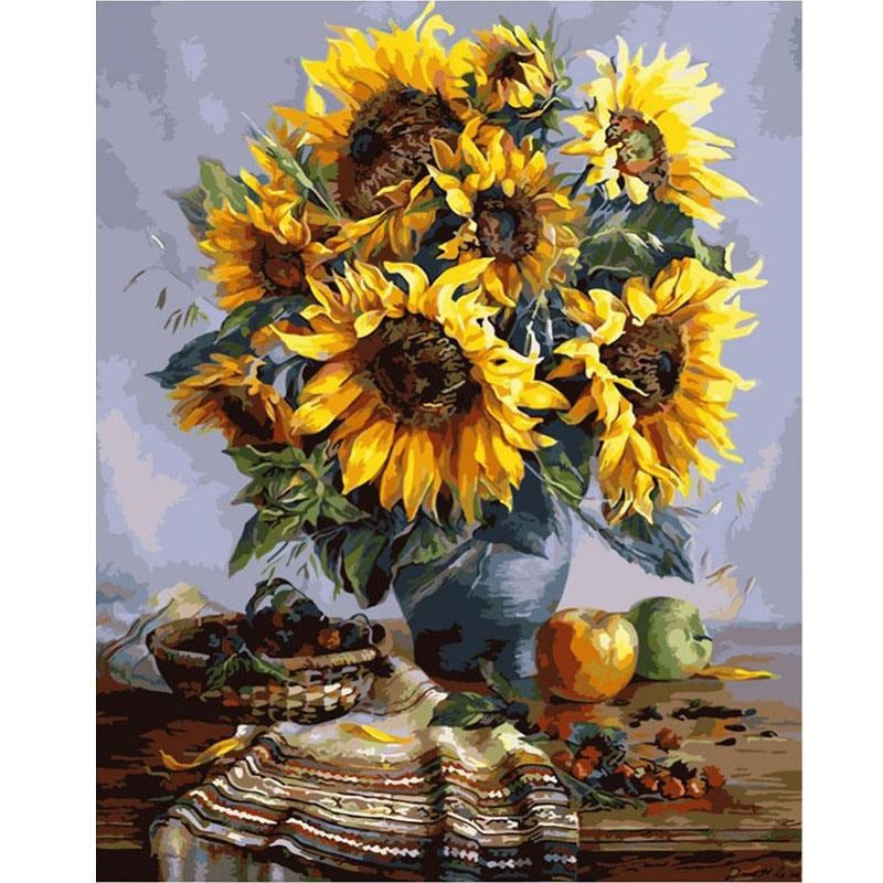 Sunflowers - DIY Painting By Numbers Kits