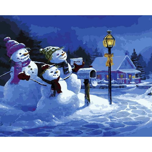 Snow-family - DIY Painting By Numbers Kits