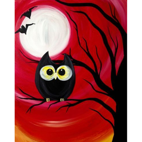 Creepy Owl - Halloween 5D DIY Paint By Number Kit