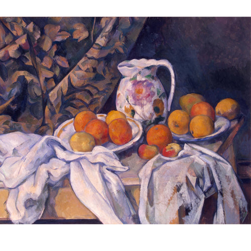 Jug,Curtain and Fruit Bowl - Paul Cezanne DIY Painting By Numbers Kit