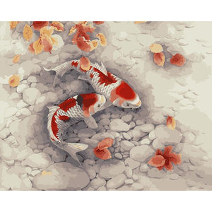 Fishes in a Pond - DIY Painting By Numbers Kits
