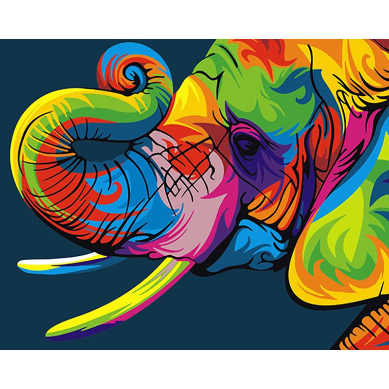 Colorful Elephant 2 - DIY Painting By Numbers Kits