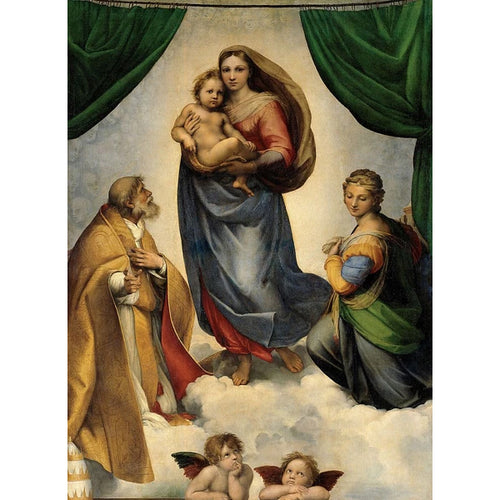 The Sistine Madonna - Raphael DIY Painting By Numbers Kit
